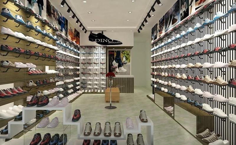 thiết kế shop giày dép độc đáo - Crystal Design TPL