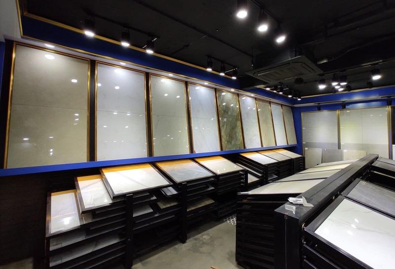 thiết kế showroom gạch men ốp lát - Crystal Design TPL