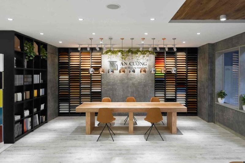 thiết kế showroom gạch ốp lát ấn tượng - Crystal Design TPL