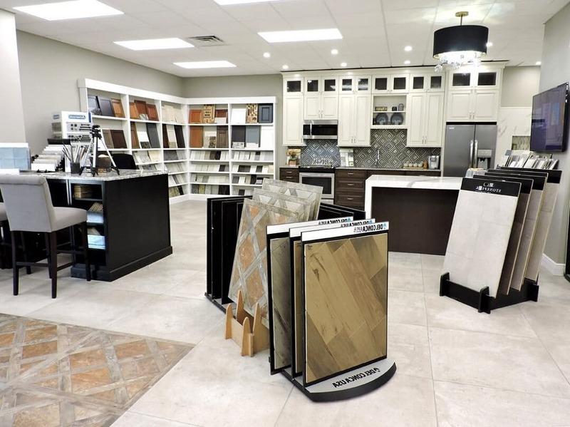 thiết kế showroom gạch ốp lát đẹp - Crystal Design TPL