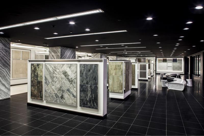 thiết kế showroom gạch ốp lát - Crystal Design TPL