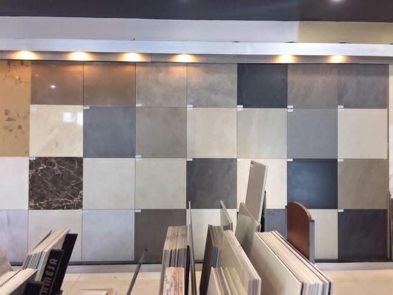 thiết kế showroom gạch - Crystal Design TPL