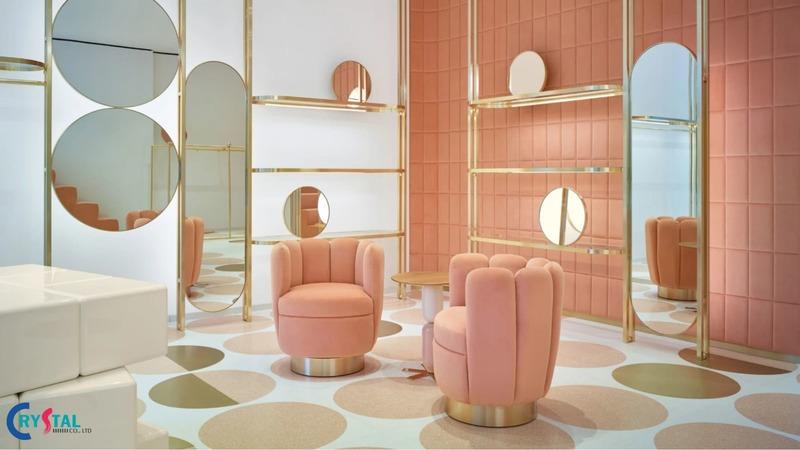 thiết kế showroom nội thất trưng bày - Crystal Design TPL