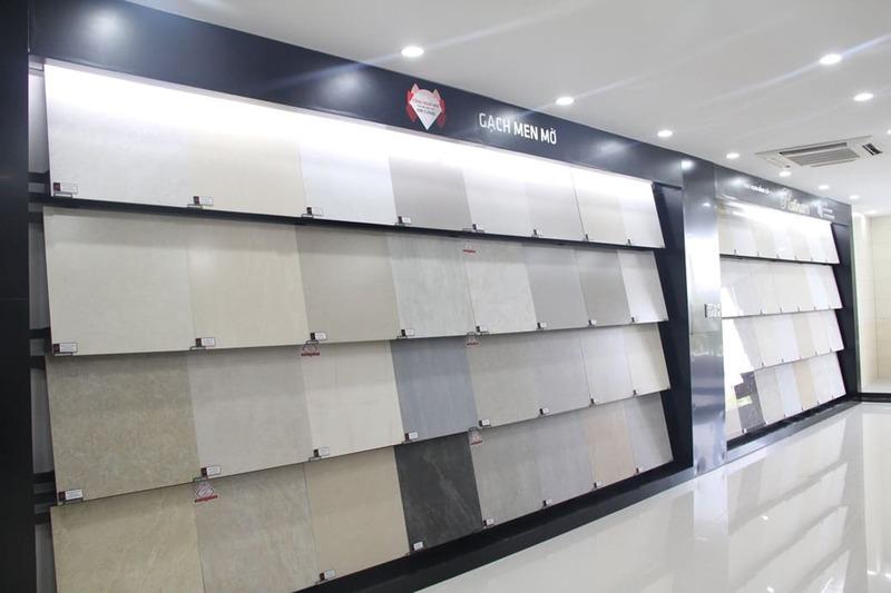 thiết kế showroom trưng bày gạch ốp lát - Crystal Design TPL