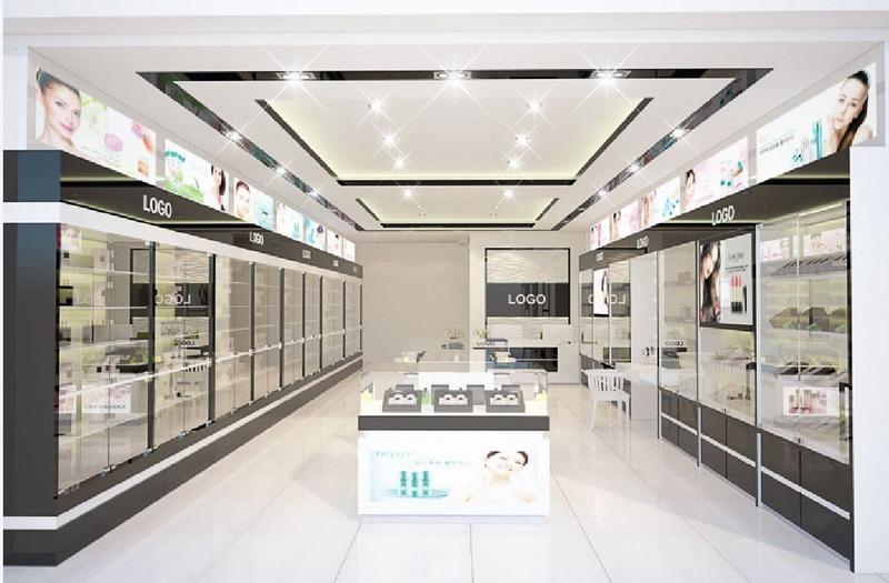thiết kế showroom trưng bày mỹ phẩm - Crystal Design TPL
