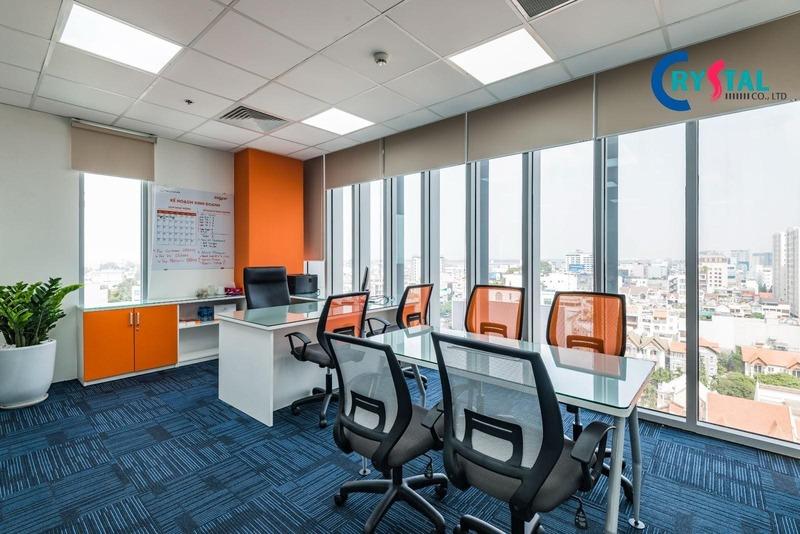 thiết kế văn phòng phù hợp hình ảnh cty - Crystal Design TPL