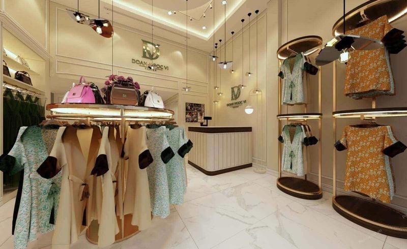 trang trí cửa hàng quần áo trẻ em - Crystal Design TPL