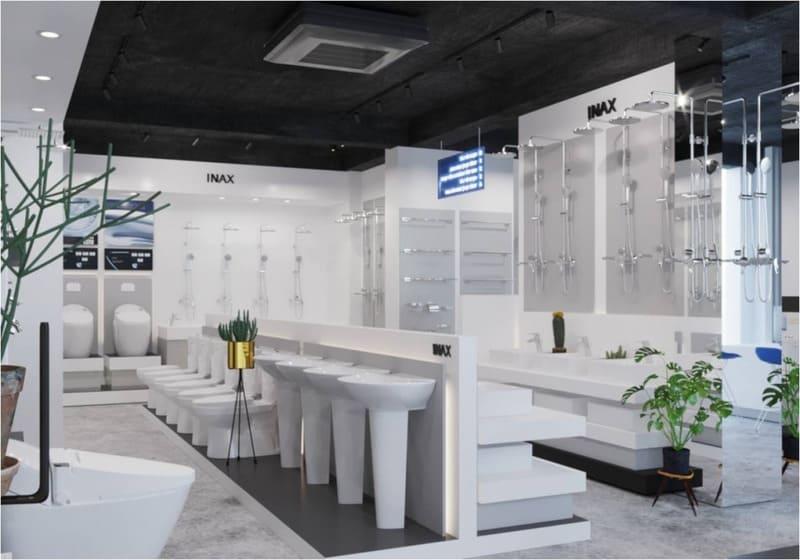 cách trang trí cửa hàng thiết bị vệ sinh diện tích nhỏ