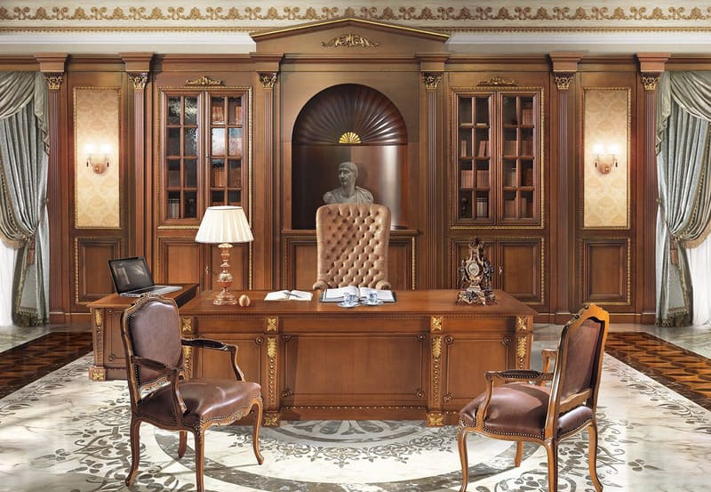 Nội thất gỗ sang trọng dùng trong thiết kế phòng giám đốc