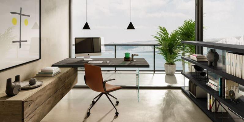 thiết kế phòng làm việc tại nhà sang trọng