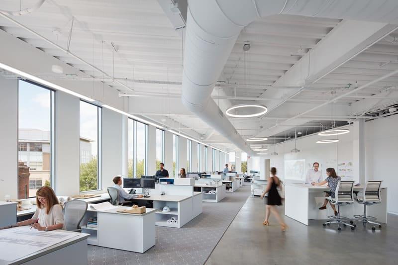 Thiết kế văn phòng với phong cách mở rộng rãi