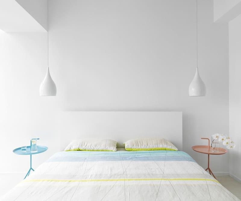 Phòng ngủ được thiết kế đơn giản và tinh tế