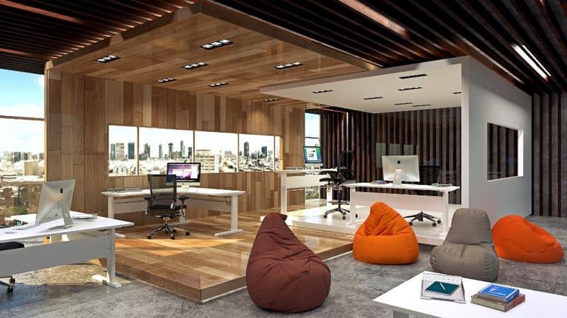 mẫu phong cách thiết kế nội thất văn phòng