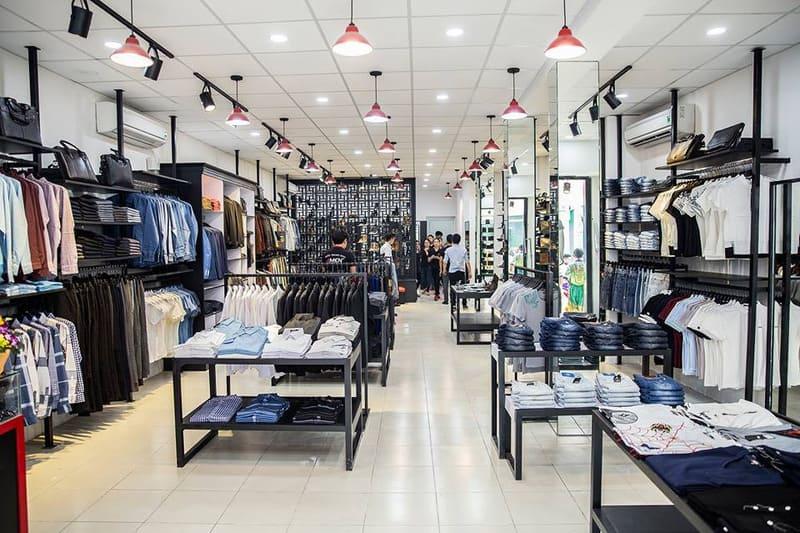 mẫu thiết kế shop thời trang nam