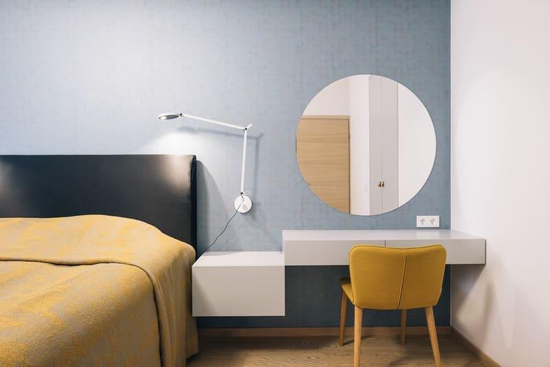 Phòng ngủ kết hợp những gam màu nóng