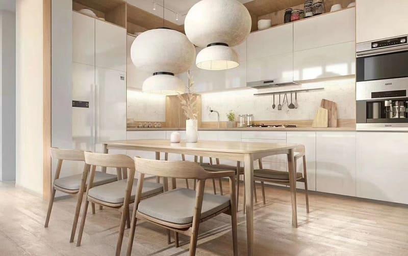 Nhà bếp ấm cúng hơn nhờ hệ thống chụp đèn hiện đại