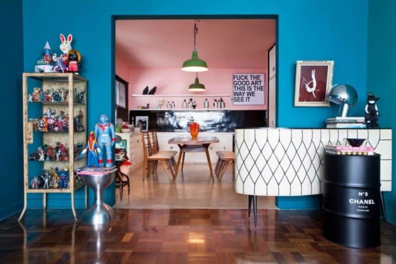 phong cách retro trong nội thất