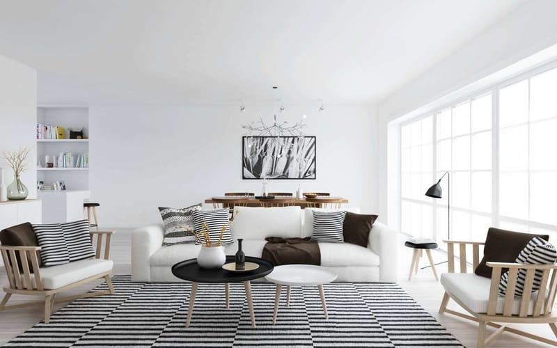 Bộ sofa nổi bật trong không gian nhờ nhấn màu đúng cách