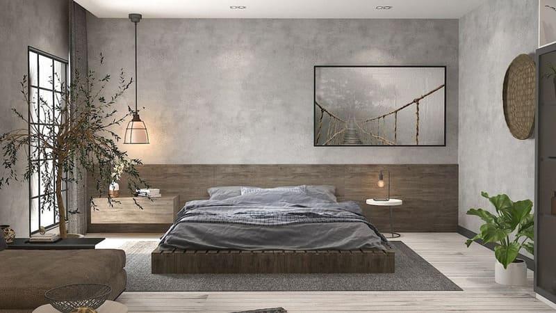 Phòng ngủ mang hơi thở thiên nhiên
