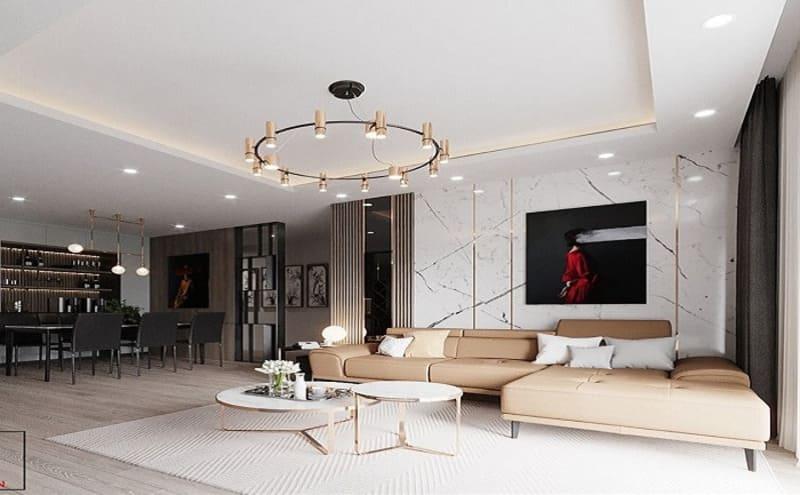 phong cách thiết kế nội thất hiện đại sang trọng