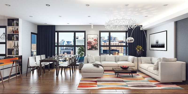 phong cách thiết kế nội thất hiện đại tối giản