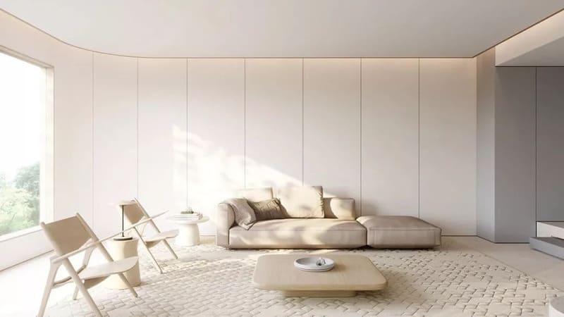 Phòng khách theo phong cách tối giản trong nội thất