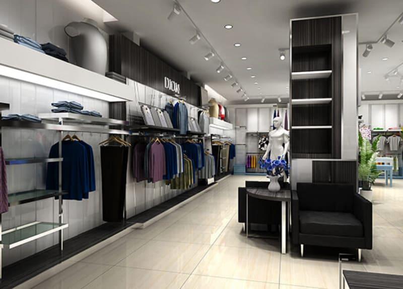 thiết kế cửa hàng quần áo nam đẹp