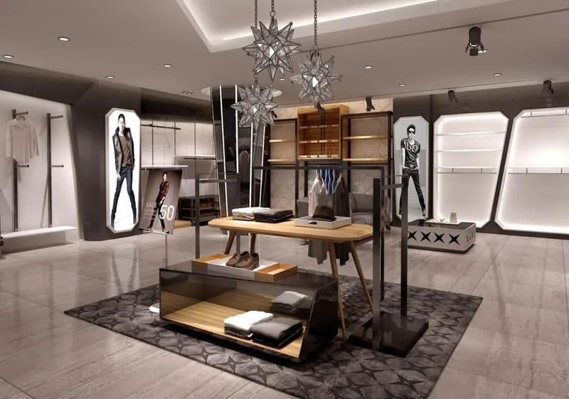 thiết kế quán quần áo nam