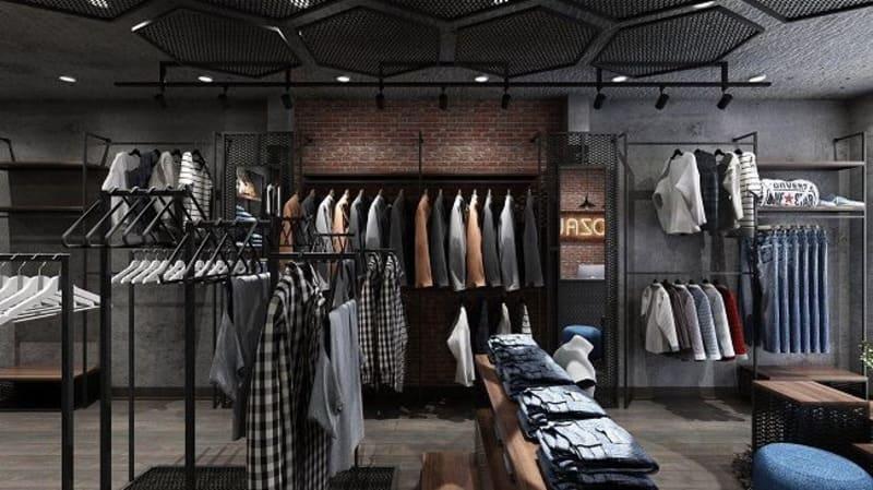thiết kế shop nam