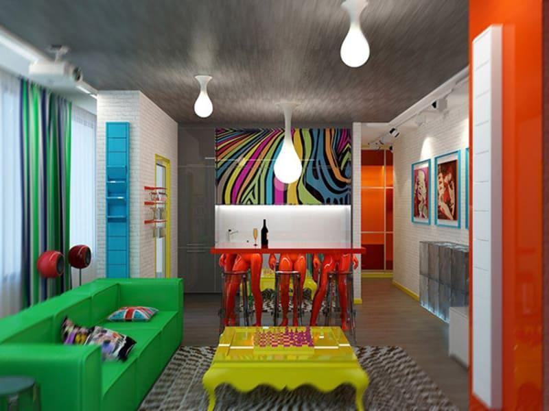 Loại hình nghệ thuật Pop Art cũng có thể vận dụng trong thiết kế
