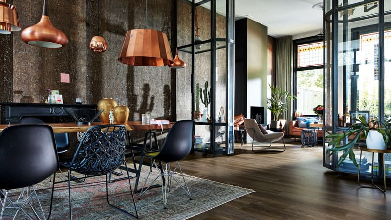 Phong cách thiết kế nội thất Metallic và đầy mạnh mẽ thích hợp cho không gian hiện đại ngày nay